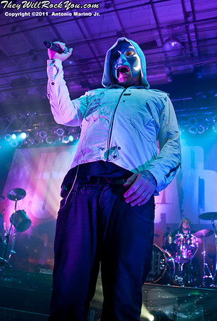 "Hollywood Undead performs on November 12, 2011 during the ""World War III"" tour at the Mid-Hudson Civic Center in Poughkeepsie, NY"