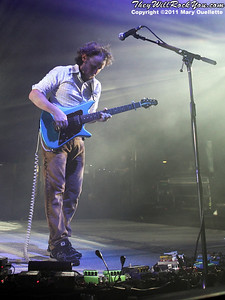 """Mike Einziger of Incubus performs on September 9, 2011 in support of """"If Not Now, When?"""" at Comcast Center in Mansfield, Massachusetts"""