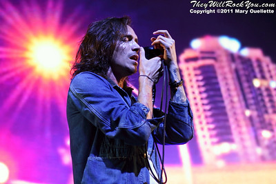 """Brandon Boyed of Incubus performs on September 9, 2011 in support of """"If Not Now, When?"""" at Comcast Center in Mansfield, Massachusetts"""