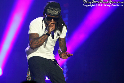 "Lil Wayne returns to the stage with his ""I'm Still Music"" tour on March 16, 2011 at the Dunkin' Donuts Center in Providence, Rhode Island"