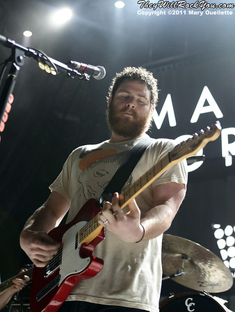 Manchester Orchestra perform on the 2011 Honda Civic Tour on August 9, 2011 at the Comcast Center in Mansfield, MA