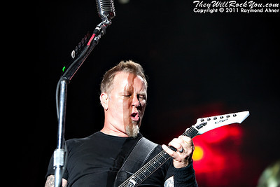 Metallica live at the Big 4 Festival in Indio California on April 23rd, 2011