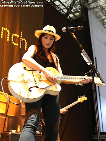 Michelle Branch performs at the Bank of America Pavilion in Boston, MA on July 19, 2011.