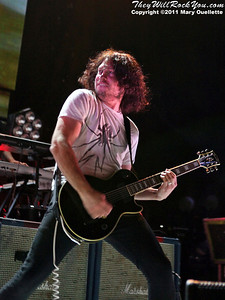 Ray Toro of My Chemical Romance performs on the 2011 Honda Civic Tour on August 9, 2011 at the Comcast Center in Mansfield, MA