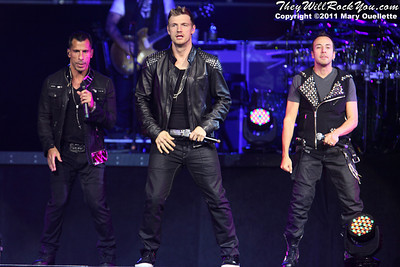 NKOTBSB perform on June 2, 2011 at Mohegan Sun Arena in Uncasville, CT