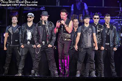 NKOTBSB perform on June 2, 2011 at Mohegan Sun Arena in Uncasville, CT