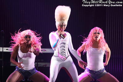 "Nicki Minaj on the ""I'm Still Music"" tour on March 16, 2011 at the Dunkin' Donuts Center in Providence, Rhode Island"