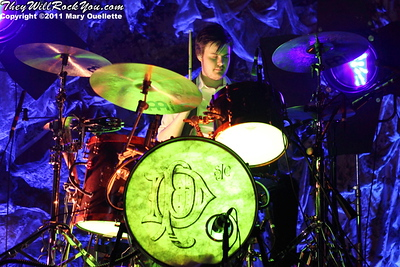 """Spencer Smith of Panic at the Disco kicks off their tour in support of """"Vices & Virtues"""" on May 22, 2011 at the House of Blues in Boston, MA"""