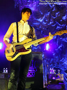"""Dallon Weekes of Panic at the Disco kicks off their tour in support of """"Vices & Virtues"""" on May 22, 2011 at the House of Blues in Boston, MA"""