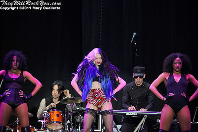 Porcelain Black performs on March 16, 2011 at the Dunkin' Donuts Center in Providence, Rhode Island