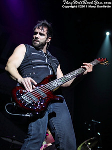 Skillet perform on the Avalanche Tour on May 1, 2011 at Mohegan Sun Arena in Uncasvillle, CT
