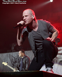 Stone Sour headline the Avalance Tour at Mohegan Sun Arena in Uncasville, CT on May 1, 2011