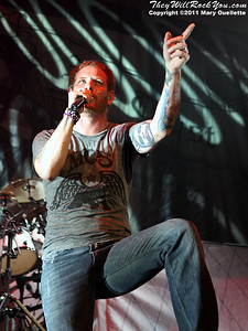 """Corey Taylor of Stone Sour performs in support of """"Audio Secrecy"""" on January 22, 2011 at the Tsongas Center in Lowell, Massachusetts"""