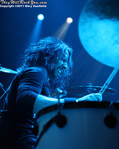 """Roy Mayorga of Stone Sour performs in support of """"Audio Secrecy"""" on January 22, 2011 at the Tsongas Center in Lowell, Massachusetts"""