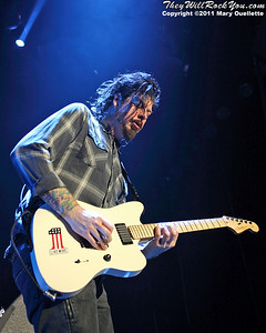 "Jim Root of Stone Sour performs in support of ""Audio Secrecy"" on January 22, 2011 at the Tsongas Center in Lowell, Massachusetts"