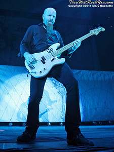 """Shawn Economaki  of Stone Sour performs in support of """"Audio Secrecy"""" on January 22, 2011 at the Tsongas Center in Lowell, Massachusetts"""