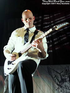 """Josh Rand of Stone Sour performs in support of """"Audio Secrecy"""" on January 22, 2011 at the Tsongas Center in Lowell, Massachusetts"""