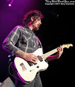"""Jim Root of Stone Sour performs in support of """"Audio Secrecy"""" on January 22, 2011 at the Tsongas Center in Lowell, Massachusetts"""