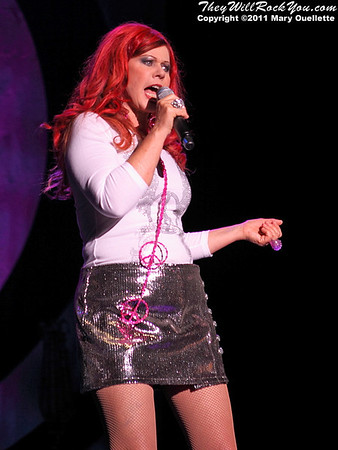 Kate Pierson of The B-52s performs on June 9, 2011 at the Bank of America Pavilion in Boston, Massachusetts