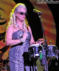 Cindy Wilson of The B-52s performs on June 9, 2011 at the Bank of America Pavilion in Boston, Massachusetts