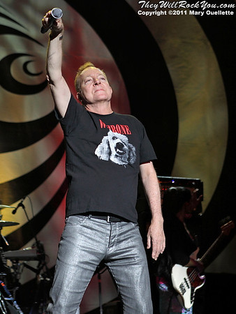 Fred Schneider of The B-52s performs on June 9, 2011 at the Bank of America Pavilion in Boston, Massachusetts