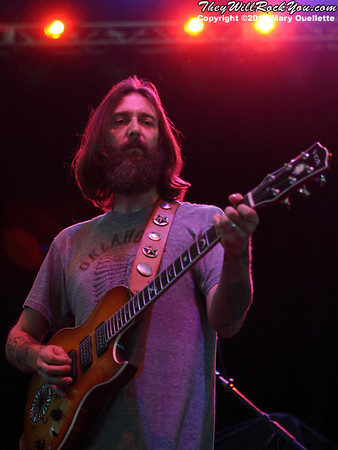 The Chris Robinson Brotherhood perform at the Bank of America Pavilion on August 6, 2011 in Boston, MA