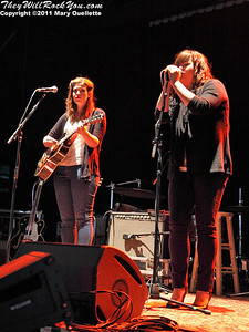 The Secret Sisters perform at the Bank of America Pavilion in Boston, MA on June 1, 2011