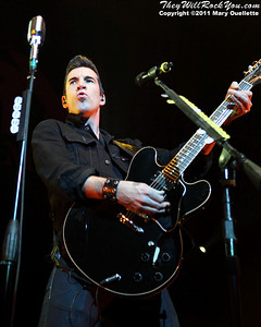 Theory of a Deadman perform on May 1, 2011 on the Avalanche Tour at Mohegan Sun Arena in Uncasville, CT