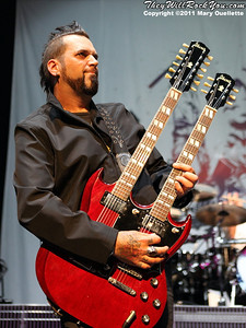 Three Days grace perform on August 30, 2011 on the Rockstar Energy Drink UPROAR Festival at the Comcast Center in Mansfield, Massachusetts
