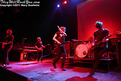 Thursday performing at The Palladium in Worcester, MA on February 18, 2011