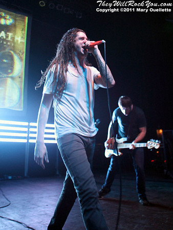 Underoath performs at The Palladium in Worcester, MA on February 18, 2011.