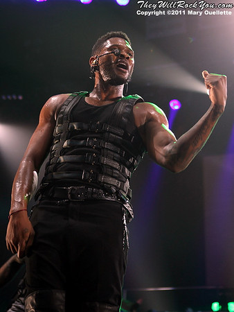 "Usher brings his ""OMG Tour"" to The Dunkin Donuts Center in Providence, Rhode Island on May 4, 2011."