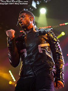 """Usher brings his """"OMG Tour"""" to The Dunkin Donuts Center in Providence, Rhode Island on May 4, 2011."""