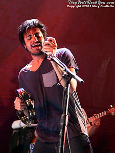 Young the Giant perform on September 9, 2011 at the Comcast Center in Mansfield, MA