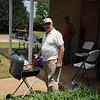 Holy Cross Lutheran Church, Tuscaloosa, Alabama volunteer cooks baloney burgers!