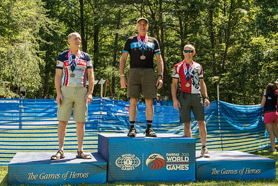 2015 World Police & Fire Games Podium - Men Age 55-59 YO Tom Tubridy - Gold Medal Fairfax, Virginia © 2015  TNWA Photography / Debbie Tubridy