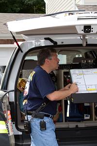 Rochelle Park Fire Chief Al Carroll in command.