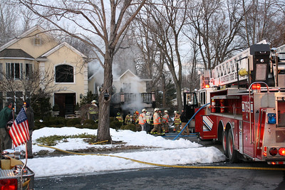 Photos from  Closter 3rd alarm Ruckman Rd. 1-6-11