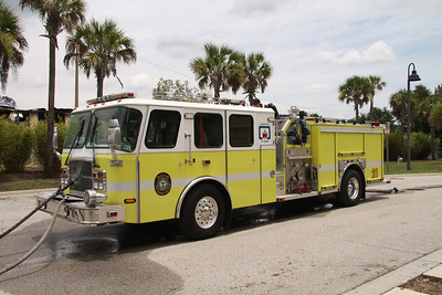 Reedy Creek Fire/Rescue (Disney World)  Engine Co. 21 operates in the rear of the complex