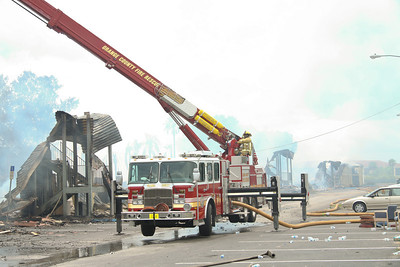 Orange County Fire/Rescue Truck 54, 2005 2000GPM/114' E-One/Bronto Skylift, one of 3 E-One/Brontos the dept has in service.