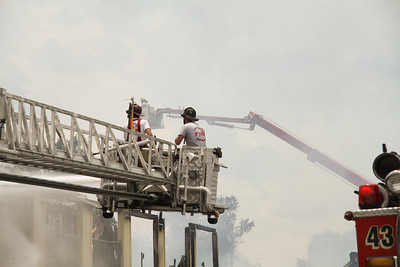 Lake County Fire/Rescue TL 112 and Orange County Fire/Rescue Truck 54.