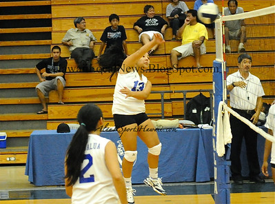 "08-25-11 Moanalua Girls Volleyball - Blue/JV/Varsity ""vs"" Farrington HS"