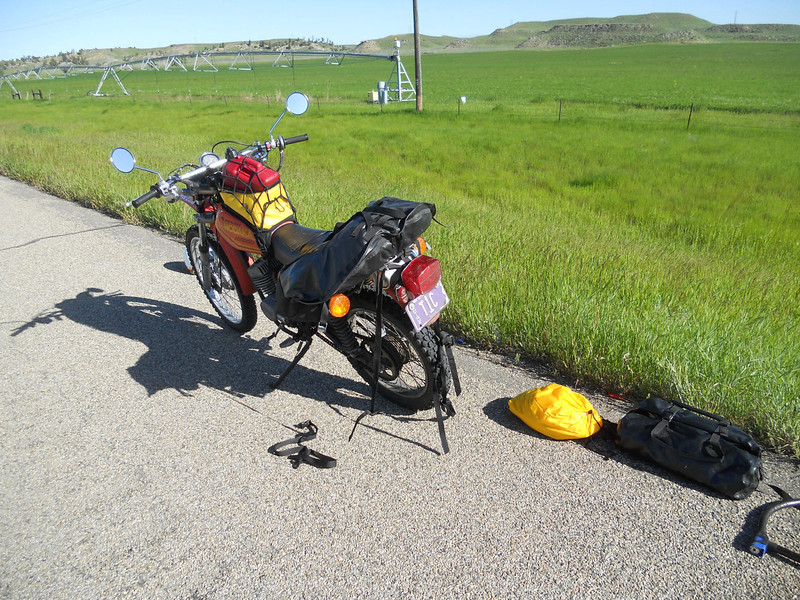 Day Nine. First breakdown about 70 miles out of Billings.