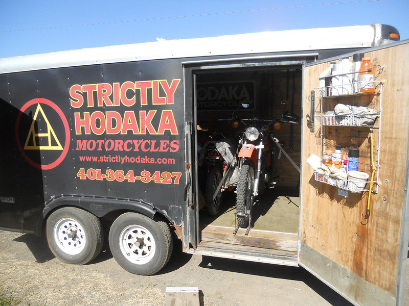 Bike loaded into my friend Paul Stannard's trailer for the long ride home!