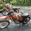 """3 days till departure. Primary bike in foreground and """"spares"""" bike in the back."""