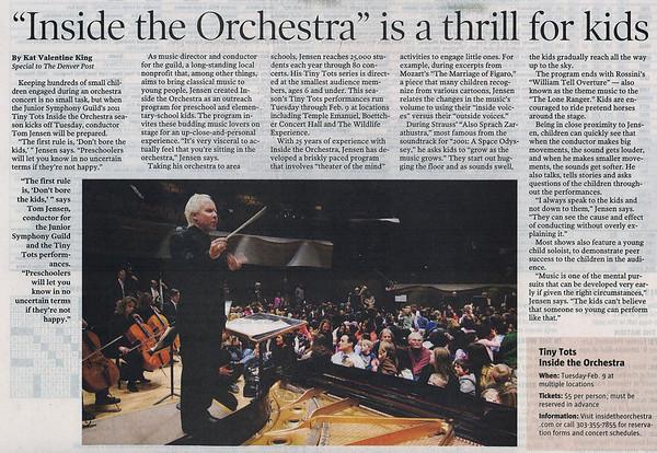 JSG - Denver Post January 22nd 2011
