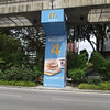 sample ad graphics on monorail columns