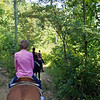 Horseback riding - Blowing Rock trip - 2011