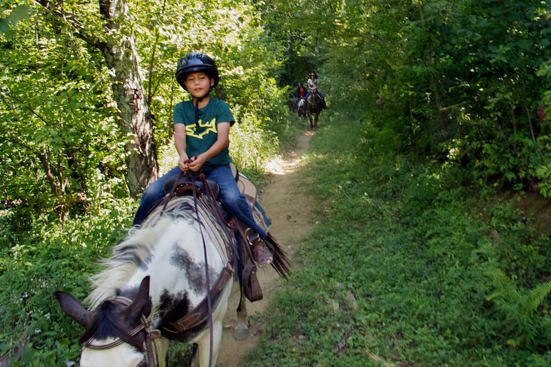 Horseback riding - Blowing Rock trip - 2011