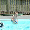 Aidan doing cannonballs